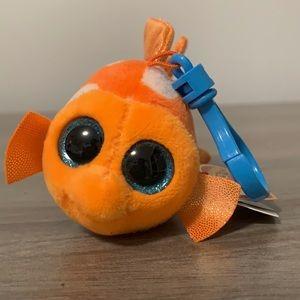 NWT Ty Beanie Boo Clown Nemo Fish Key Charm